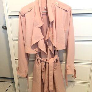 Jennifer Lopez Trench coat Blush pink